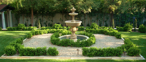 Italian Garden Design a formal garden design in the italian garden at heligan garden design ideas for a Ca Italian Garden With Boxwood Knot Gardens Fountain And Lawn Near Pasadena