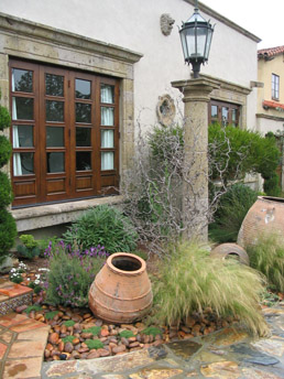 Landscaping Of Garden Helpful landscape tips garden landscape design los angeles cbl antique olive jar sits in a bed garden stones with elfin thyme and spanish lavender in workwithnaturefo